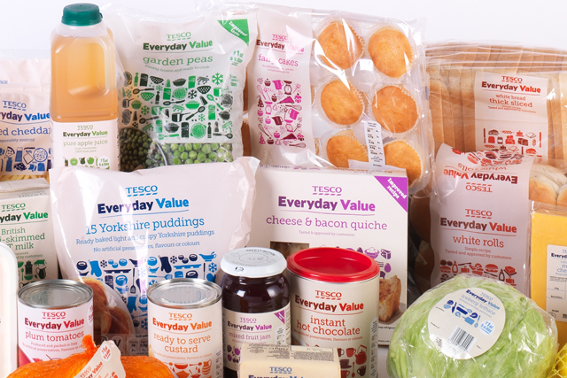 Tesco: replaced Value range with Everyday Value