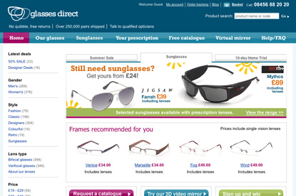 Glasses Direct…ad and media pitch