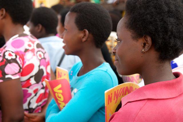 Mother's 'Girl Effect' project in Rwanda
