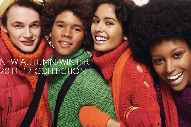 Benetton: backs autumn/winter collection with interactive website