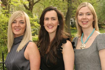L to R: Kirsty Barnes, Belinda Stacey and Katie Treggiden