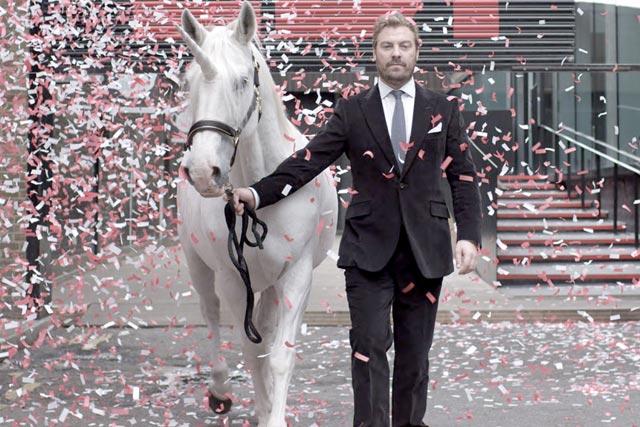 LBi: creative director Chris Clarke with his unicorn