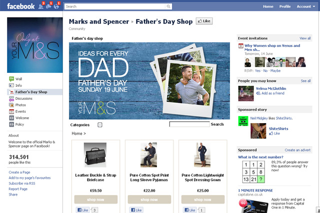 People store facebook