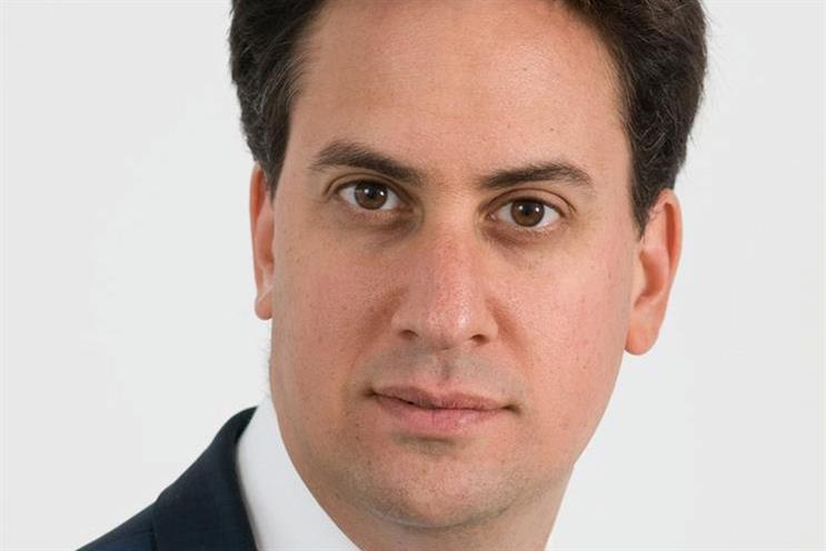 Miliband: calling for women to be fairly represented in the workplace