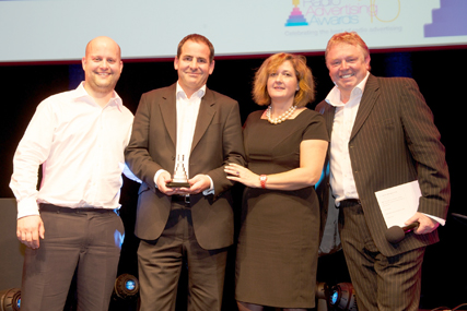 Linda Smith with Carat, winners of Media Agency of the Year.