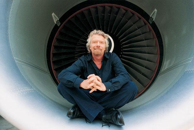 Sir Richard Branson: president of  Virgin Atlantic