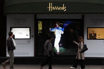 Harrods...Peroni window display by Antonio Beradi
