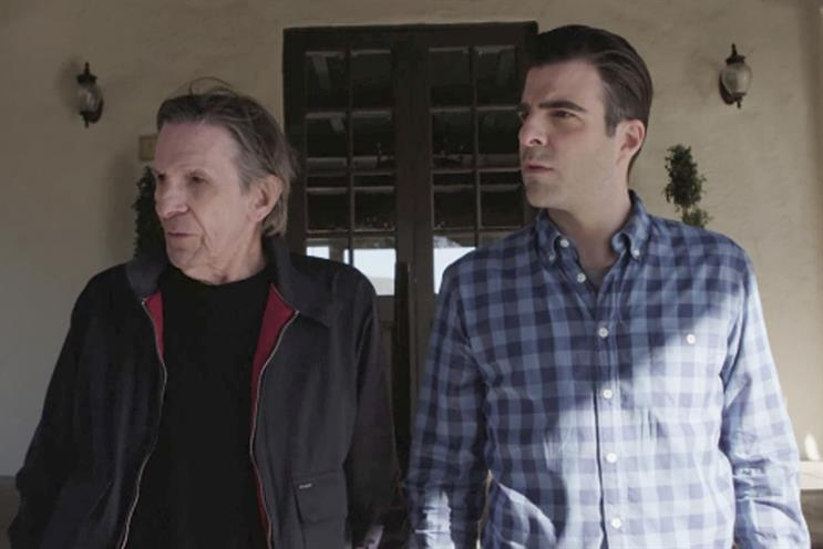Zachary Quinto and Leonard Nimoy: star in Audi film