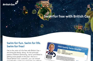 British Gas gives customers free swimming sessions