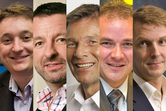 Clive Dickens, Steve Parkinson, Richard Park, Scott Taunton and Stuart Taylor