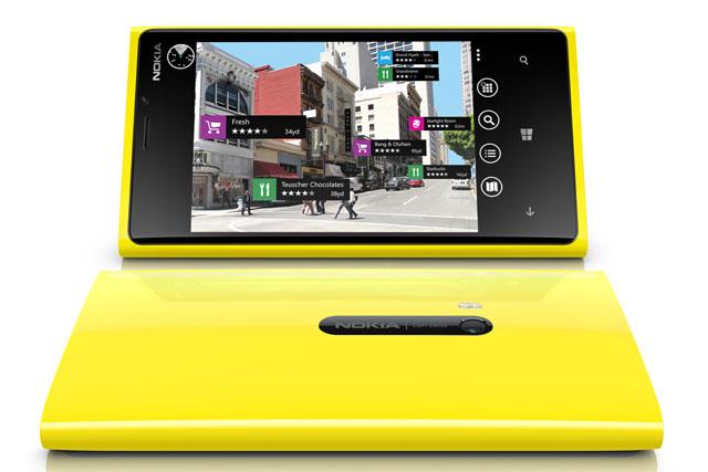 Nokia Lumia 920: runs on Microsoft's Windows Phone 8 (WP8) operating system.