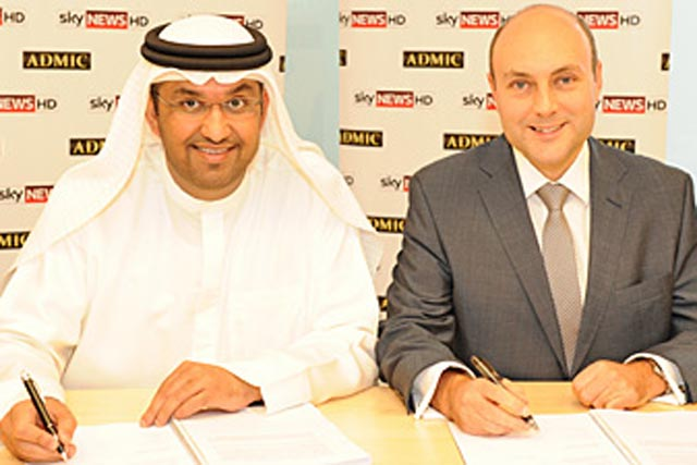 Deal signed: Dr Sultan Al Jaber of Admic and Andrew Griffith CFO of BSkyB