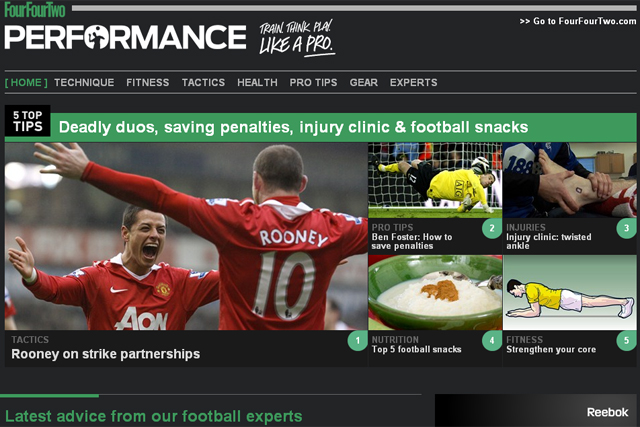 Performance: football site from the FourFourTwo team