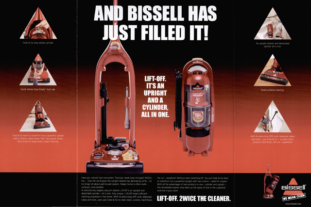 Bissell: advertising on TV for the first time in a decade