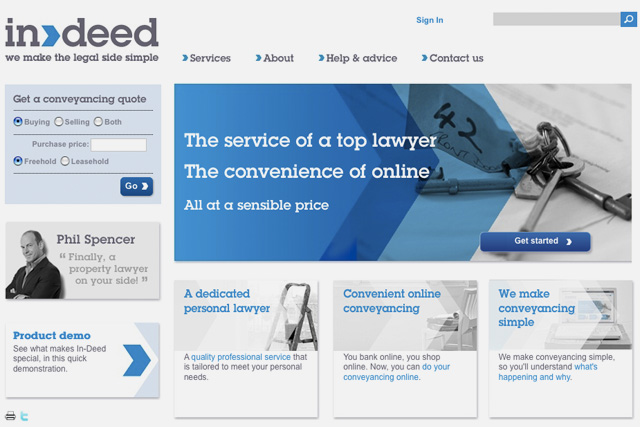 In-deed: conveyancing service for house-buyers