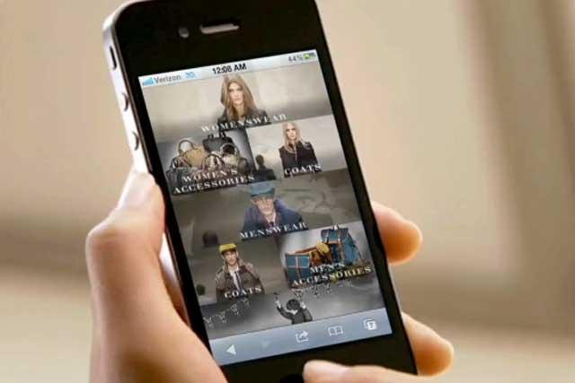 Burberry: mobile app