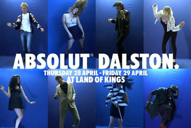 Absolut Dalston: dancers invited to become part of an interactive installation