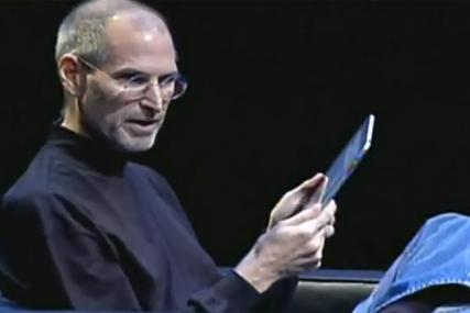 Apple chief executive Steve Jobs at the iPad launch
