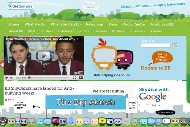 BeatBullying: rolls out 'big march' initiative