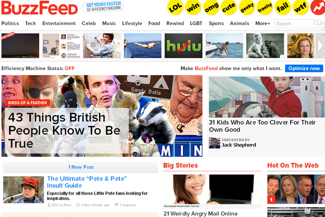 BuzzFeed: UK launch