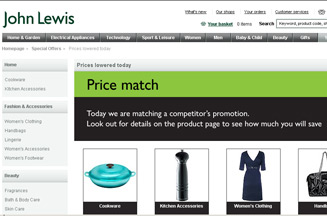 John Lewis Runs Price Match Email Campaign