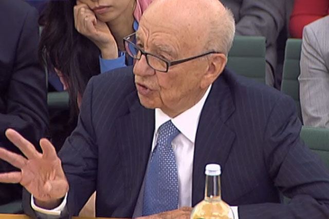 Rupert Murdoch: giving evidence to the parliamentary select committee last year