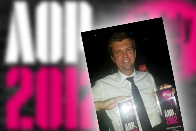 Haymarket's FourFourTwo editor at AOP awards