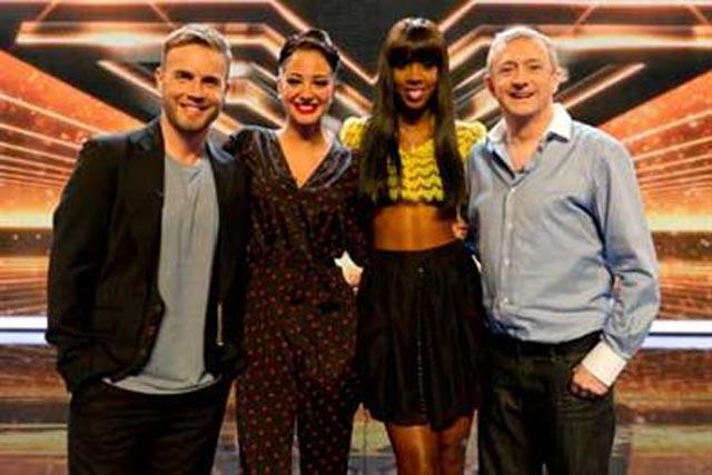 X Factor: attracted peak audience of 13 million-plus on Sunday