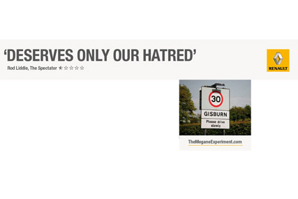 Online banner ads push the tongue in cheek message