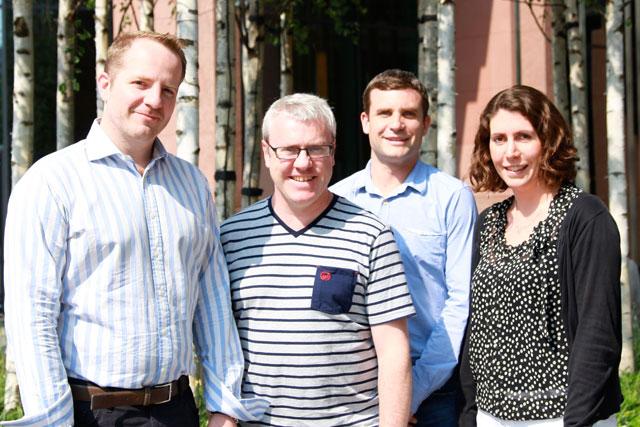 Carat: Steven Ballinger , Adrian English, Glyn Shadwell  and Lorna Cheetham