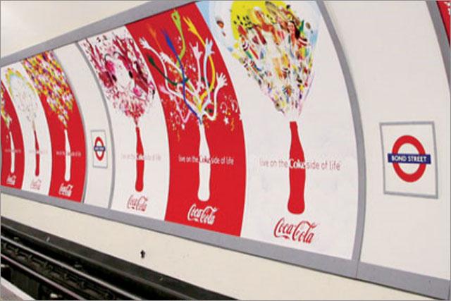 CBS Outdoor: Coca-Cola media on the London Underground