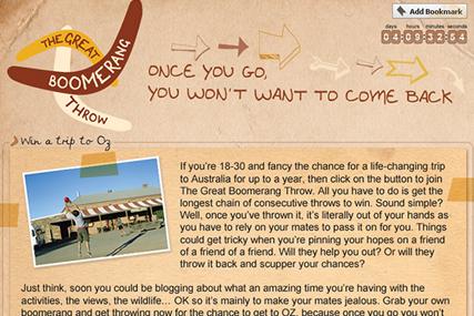 Tourism Australia: launches Facebook 'boomerang' app