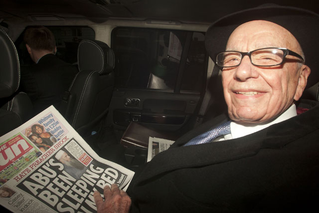 Rupert Murdoch: announced the launch of the Sunday title while in London