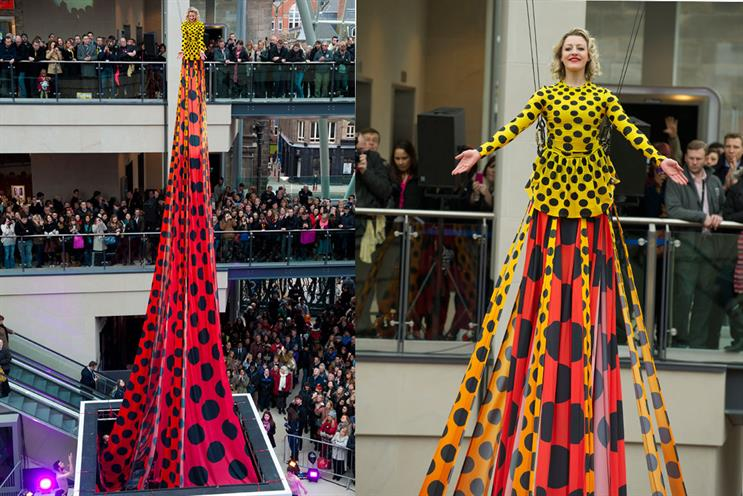 Tall order: the world's longest dress goes on display in Leeds