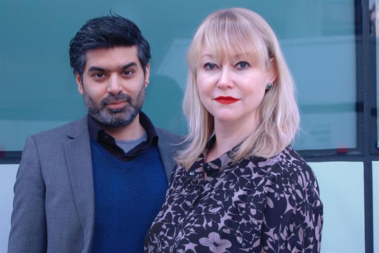 Faraaz Marghoob: seen here with CMW chief executive Liz Wilson