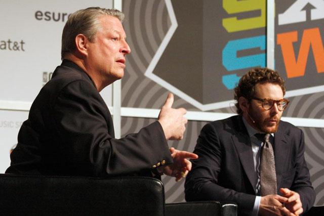 Al Gore speaking at SXSW
