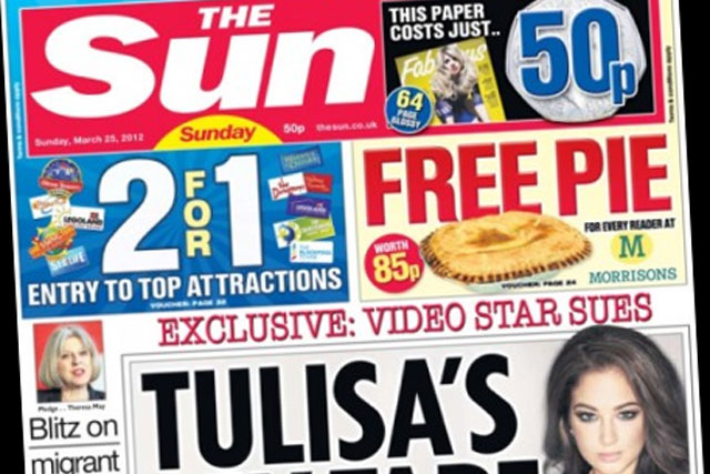 The Sun: Sunday edition's circulation has fallen 24.5% since launch