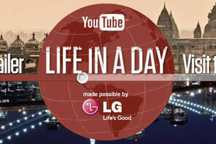 Global event: LG is sponsoring Life in a Day to be featured on YouTube