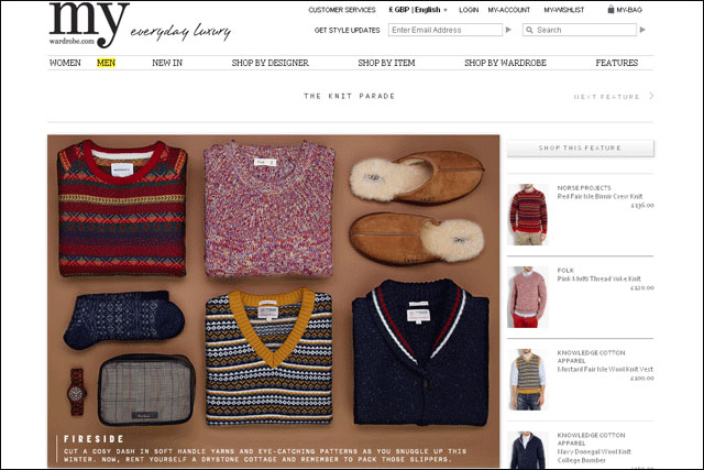 My Wardrobe.com: reported to be dropping its menswear offering