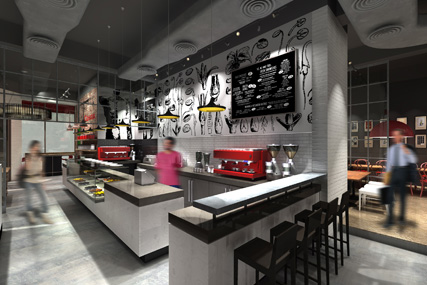 Costa Coffee: artist's impression of a Metropolitan store