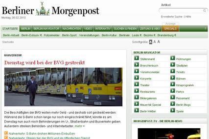 Berliner Morgenpost: Axel Springer title