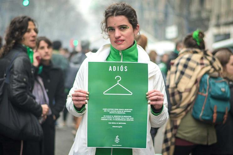Amnesty International: supported campaign to legalise abortion in Argentina