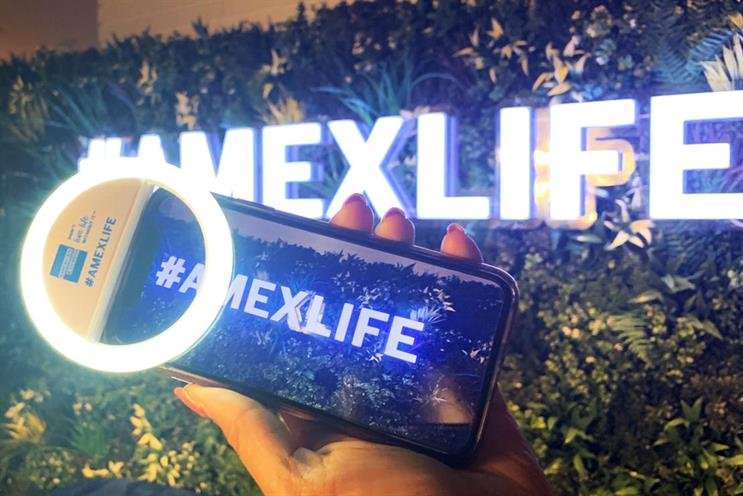 American Express: selfie lights for film fans