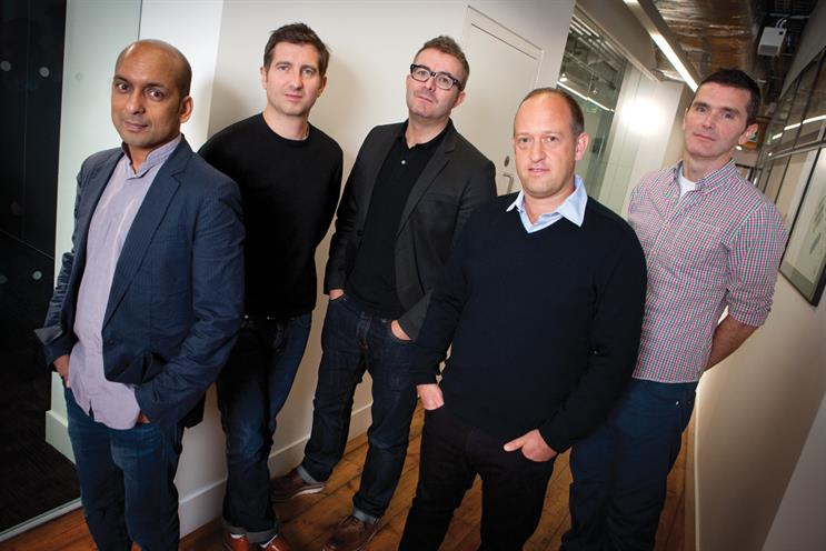 Cain & Abel: partners and founders include (l-r) Singhal, Forsyth, Murphy, Joseph and Falco