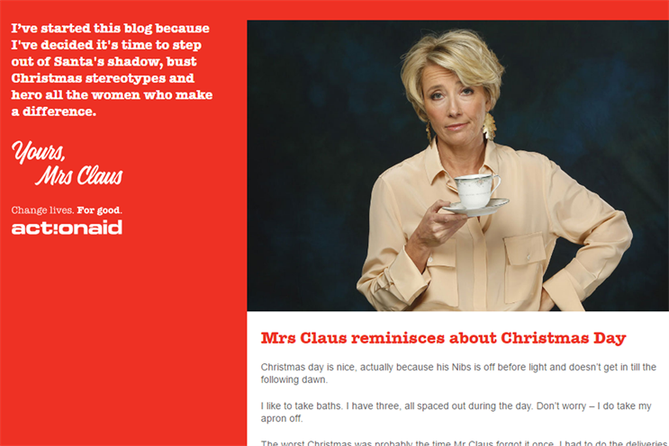 Emma Thompson is among 20 celebrities to appear on the blog