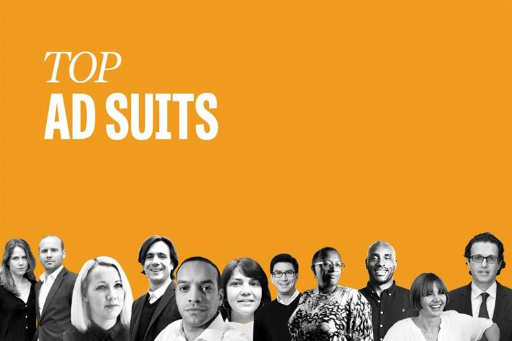Top ad suits: Einav, Goff, Martin, Rees, Douglas, Marjoram, Scott, Jenkins, Davies, Graeme and Abraham