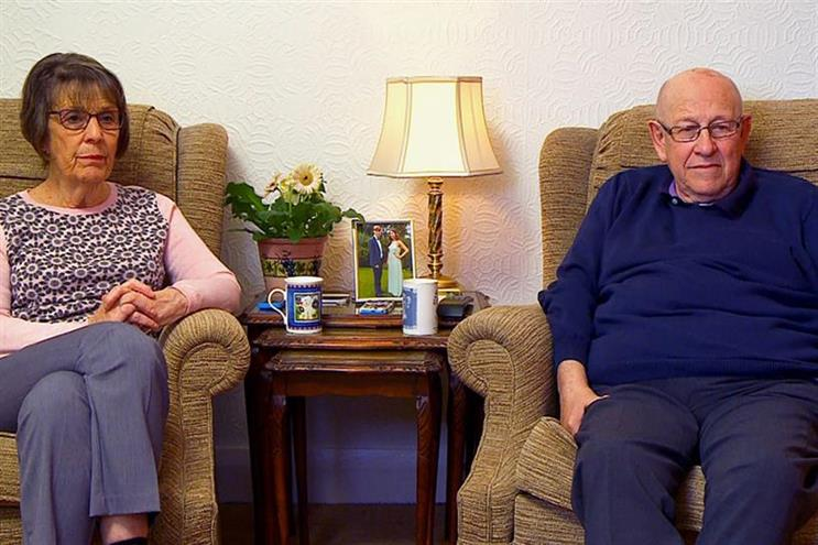 Gogglebox characters June and Leon reacted, live and unscripted, to Age UK's ad