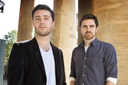 Laurent Simon (l) and Aidan McClure
