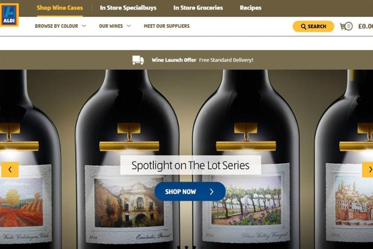 Aldi has begun selling wine online