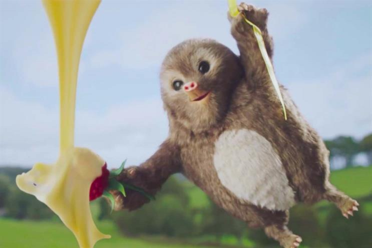 Ambrosia: ad features a mole who loves custard on his raspberries